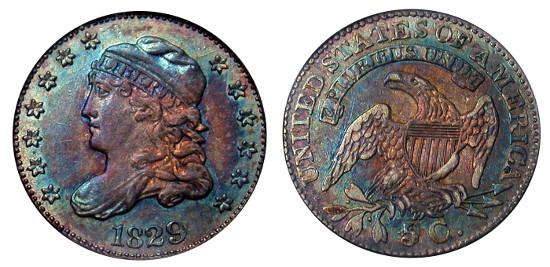 Coin Mintage Capped Bust Half Dime Landofcoins Com