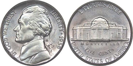 Coin Mintage  Jefferson Nickel | Landofcoins com